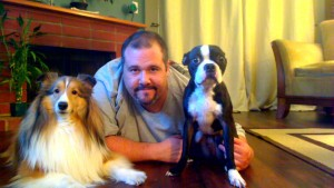 Javier and his FurKids, Dante and Milo